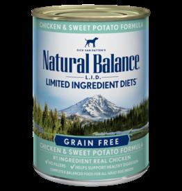 NATURAL BALANCE PET FOODS, INC NATURAL BALANCE DOG CHICKEN & SWEET POTATO 13OZ CAN