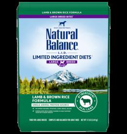 NATURAL BALANCE LID LARGE BREED LAMB & RICE 12LBS