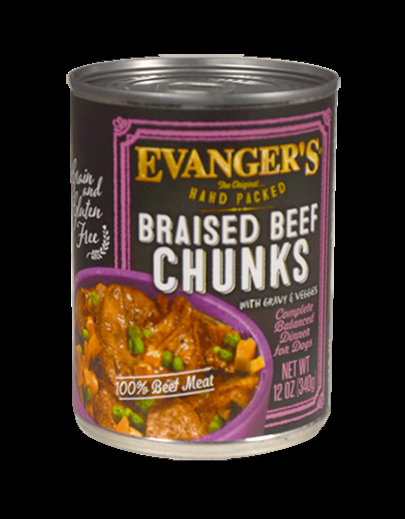 EVANGER'S EVANGERS HP BRAISED BEEF CHUNKS W/ GRAVY 13OZ CASE OF 12