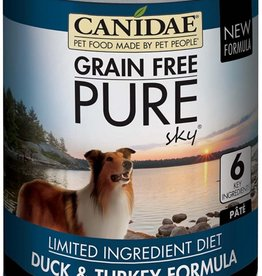 CANIDAE PET FOODS CANIDAE DOG CAN PURE SKY DUCK & TURKEY 13OZ CASE OF 12