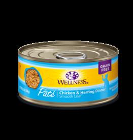 WELLPET LLC WELLNESS CAT CAN  CHICKEN & HERRING 5.5OZ