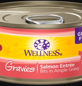 WELLPET LLC WELLNESS CAT CAN GRAVIES SALMON 5.5OZ