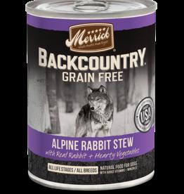 MERRICK PET CARE, INC. MERRICK BACKCOUNTRY DOG ALPINE RABBIT STEW CAN 12.7OZ CASE OF 12