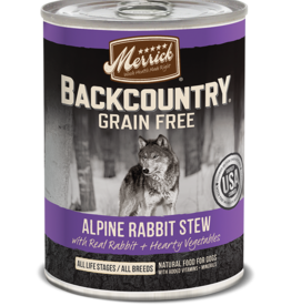 MERRICK PET CARE, INC. MERRICK BACKCOUNTRY DOG ALPINE RABBIT STEW CAN 12.7OZ