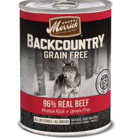 MERRICK PET CARE, INC. MERRICK BACKCOUNTRY DOG BEEF CAN 12.7OZ