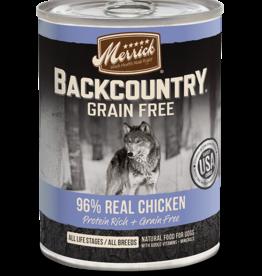 MERRICK PET CARE, INC. MERRICK BACKCOUNTRY DOG CHICKEN CAN 12.7OZ CASE OF 12