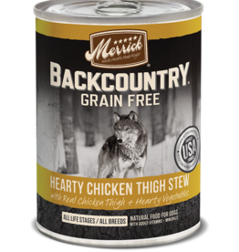 MERRICK PET CARE, INC. MERRICK BACKCOUNTRY DOG CHICKEN THIGH STEW CAN 12.7OZ CASE OF 12