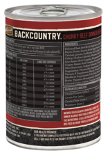 MERRICK PET CARE, INC. MERRICK BACKCOUNTRY DOG CHUNKY BEEF CAN 12.7OZ CASE OF 12
