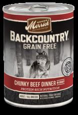 MERRICK PET CARE, INC. MERRICK BACKCOUNTRY DOG CHUNKY BEEF CAN 12.7OZ