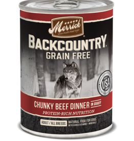 MERRICK PET CARE, INC. MERRICK BACKCOUNTRY DOG CHUNKY BEEF CAN 12.7OZ