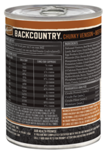 MERRICK PET CARE, INC. MERRICK BACKCOUNTRY DOG CHUNKY VENISON & BEEF CAN 12.7OZ CASE OF 12