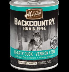 MERRICK PET CARE, INC. MERRICK BACKCOUNTRY DOG DUCK & VENISON STEW CAN 12.7OZ CASE OF 12