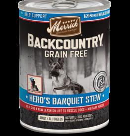 MERRICK PET CARE, INC. MERRICK BACKCOUNTRY DOG HERO'S BANQUET CAN 12.7OZ CASE OF 12