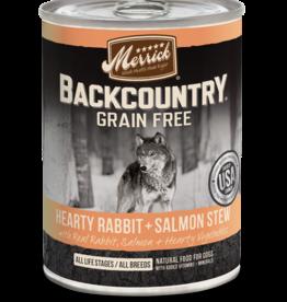 MERRICK PET CARE, INC. MERRICK BACKCOUNTRY DOG RABBIT & SALMON STEW CAN 12.7OZ