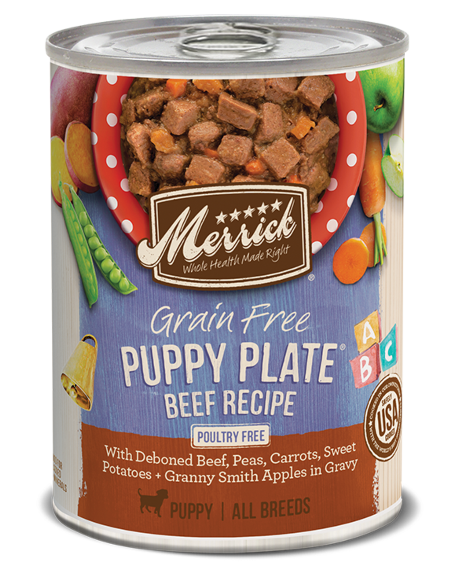 MERRICK PET CARE, INC. MERRICK DOG CAN PUPPY PLATE BEEF 13.2OZ CASE OF 12
