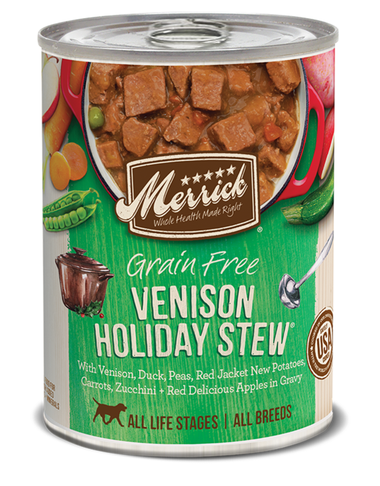 MERRICK PET CARE, INC. MERRICK DOG CAN VENISON HOLIDAY STEW 13.2OZ