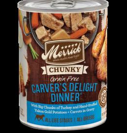 MERRICK PET CARE, INC. MERRICK DOG CHUNKY CARVER'S DELIGHT DINNER CAN 13OZ