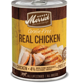 MERRICK PET CARE, INC. MERRICK GRAIN FREE DOG REAL CHICKEN CAN 13.2OZ CASE OF 12