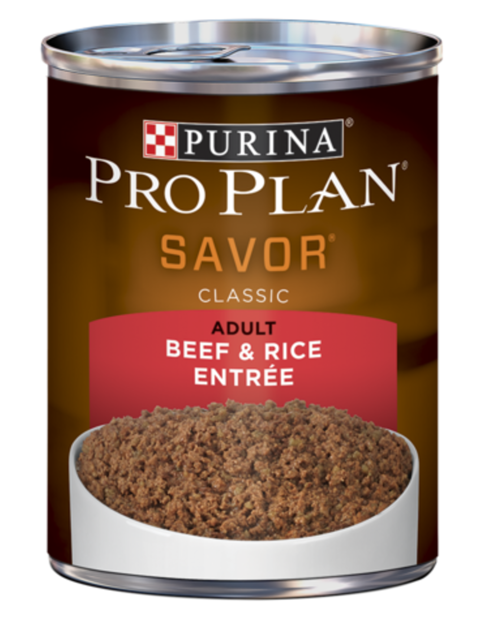 PRO PLAN DOG CAN BEEF & RICE 13OZ CASE OF 12