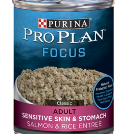 PRO PLAN FOCUS DOG CAN SENSITIVE SKIN & STOMACH SALMON 13OZ CASE OF 12