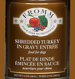 FROMM FAMILY FOODS LLC FROMM DOG 4STAR SHREDDED TURKEY CAN 12OZ