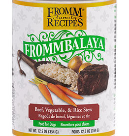 FROMM FAMILY FOODS LLC FROMM DOG FROMMBALAYA BEEF & RICE STEW CAN 12.5OZ CASE OF 12