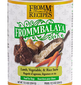 FROMM FAMILY FOODS LLC FROMM DOG FROMMBALAYA LAMB & RICE STEW CAN 12.5OZ
