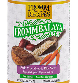 FROMM FAMILY FOODS LLC FROMM DOG FROMMBALAYA PORK & RICE STEW CAN 12.5OZ CASE OF 12