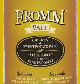 FROMM FAMILY FOODS LLC FROMM DOG GRAIN FREE PATE CHICKEN SWEET POTATO CAN 12.2OZ CASE OF 12
