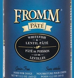 FROMM FAMILY FOODS LLC FROMM DOG GRAIN FREE PATE WHITEFISH 12.2OZ CASE OF 12