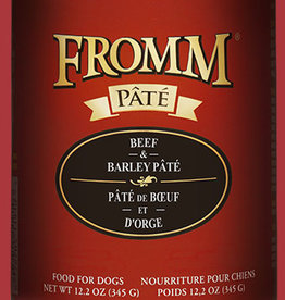 FROMM FAMILY FOODS LLC FROMM DOG PATE BEEF & BARLEY 12.2OZ CASE OF 12