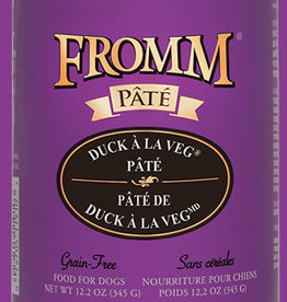 FROMM FAMILY FOODS LLC FROMM DOG PATE GRAIN FREE DUCK VEGETABLE CAN 12.2OZ