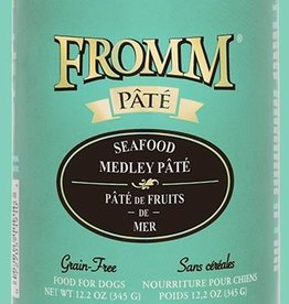 FROMM FAMILY FOODS LLC FROMM DOG PATE GRAIN FREE SEAFOOD MEDLEY CAN 12.2 OZ