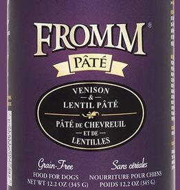 FROMM FAMILY FOODS LLC FROMM DOG GRAIN FREE VENISON & LENTILS CAN 12.2OZ