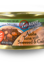 EVANGER'S AGAINST THE GRAIN CAT ALOHA TUNA W/ SEAWEED & CRAB CAN 2.8OZ CASE OF 12