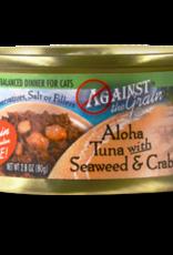 EVANGER'S AGAINST THE GRAIN CAT ALOHA TUNA W/ SEAWEED & CRAB CAN 2.8OZ