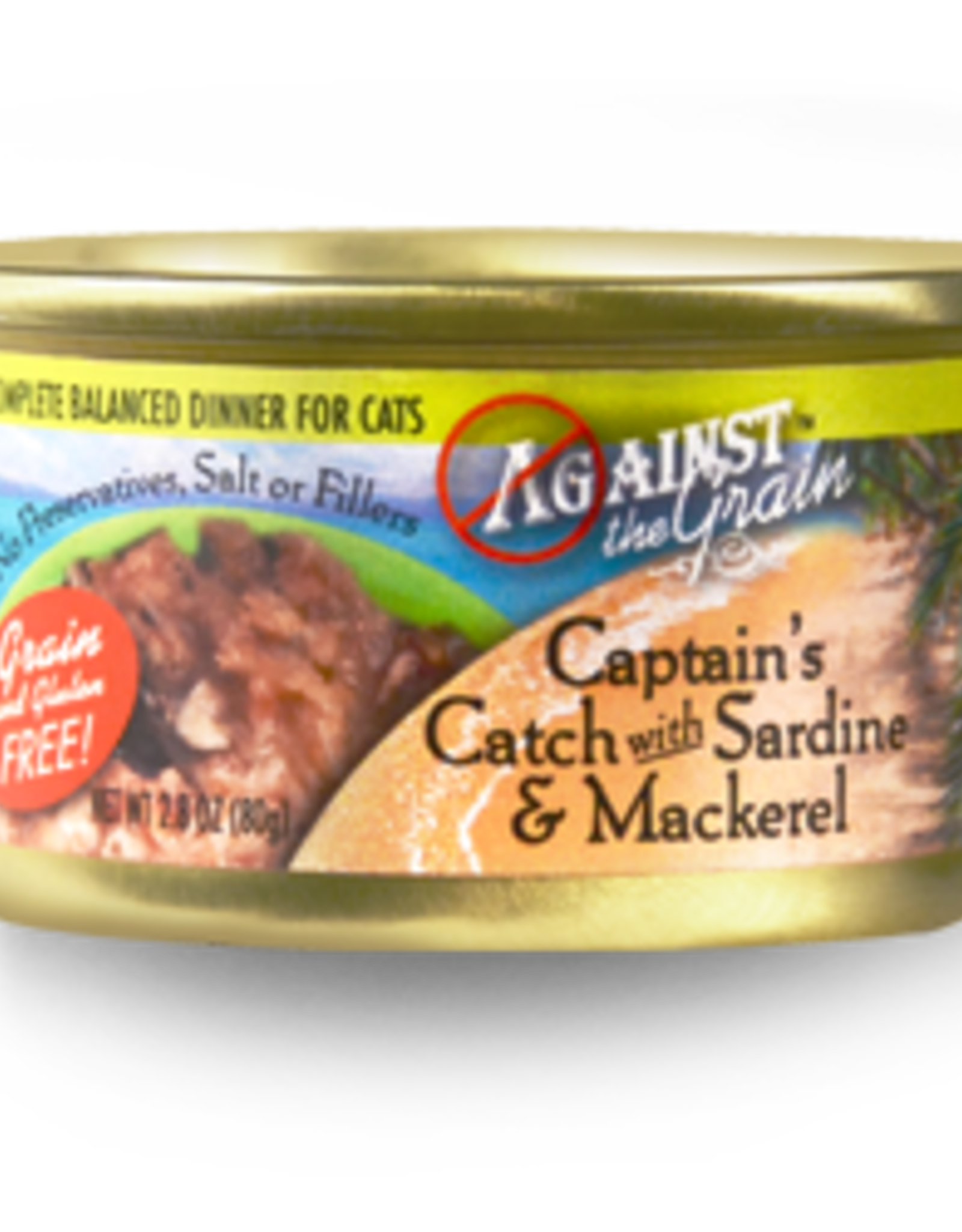 EVANGER'S EVANGERS CAT ATG CAPTAINS W/SARDINES & MACKEREL 2.8OZ CASE OF 24