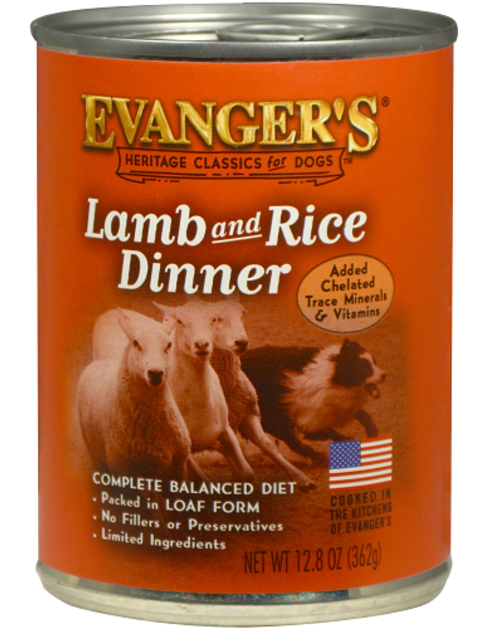 EVANGER'S EVANGERS CLASSIC LAMB & RICE 13OZ CASE OF 12