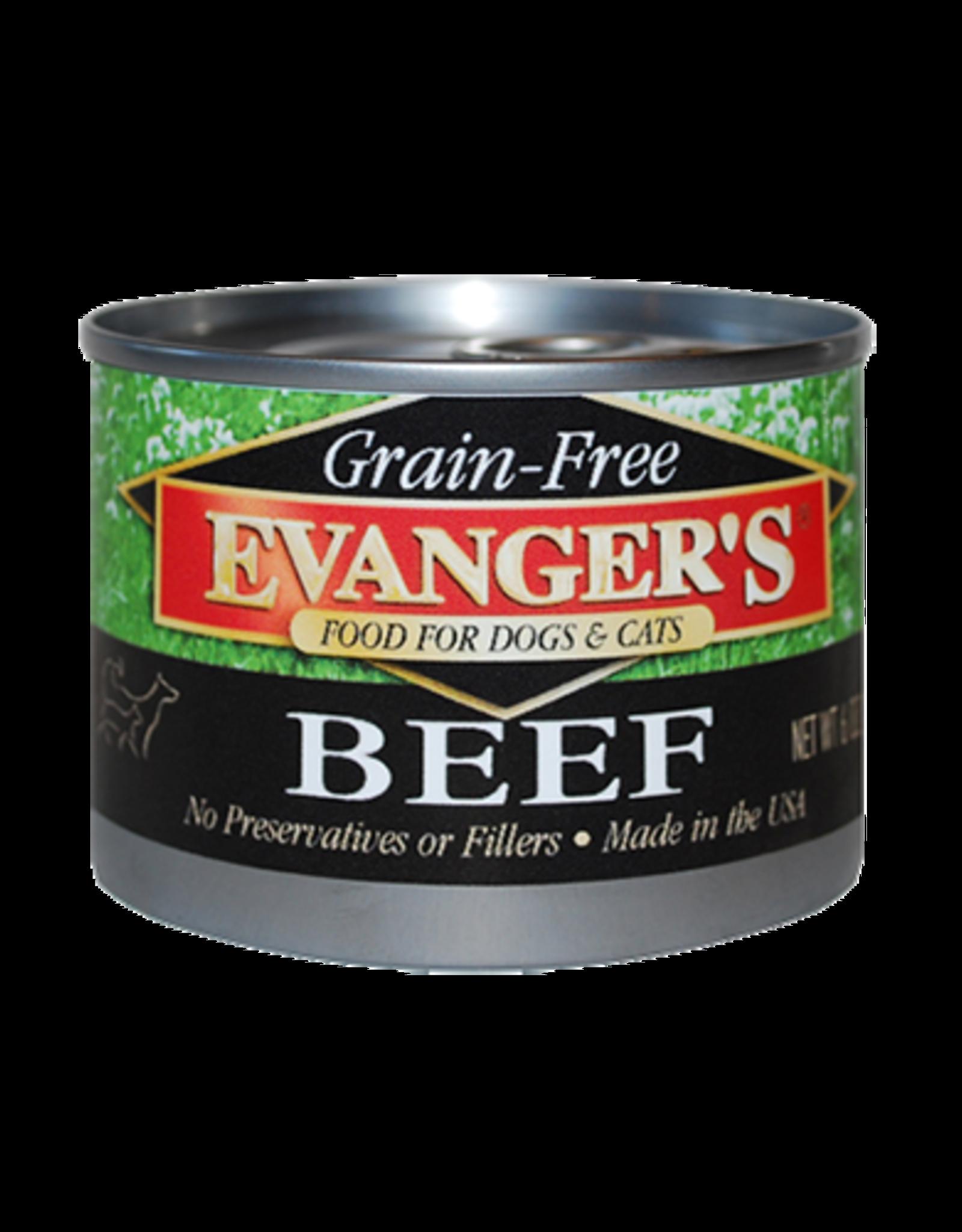 EVANGER'S EVANGERS GRAIN FREE BEEF 6OZ CAN