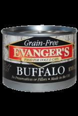 EVANGER'S EVANGERS GRAIN FREE BUFFALO 6OZ CAN