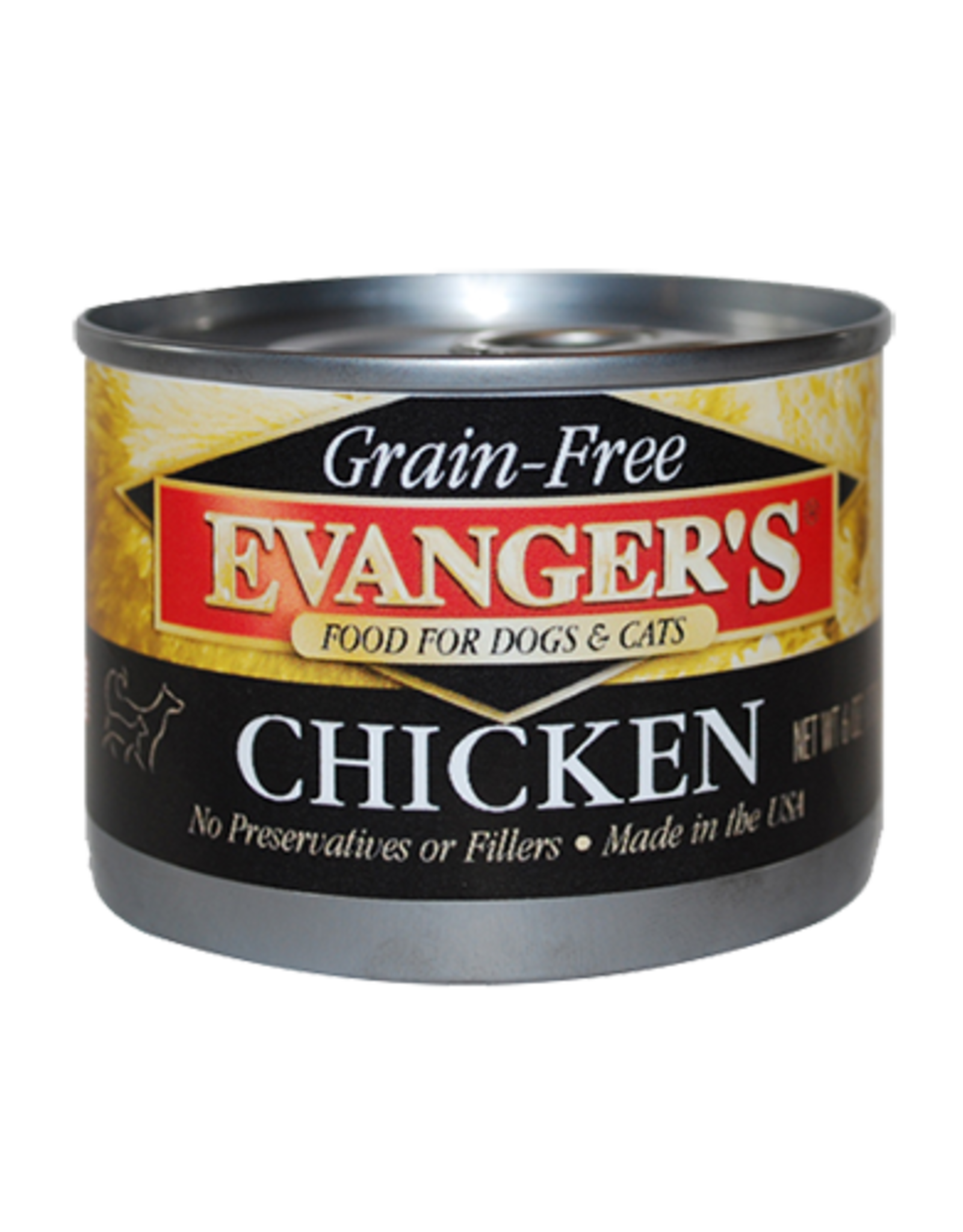 EVANGER'S EVANGERS GRAIN FREE COOKED CHICKEN 13OZ CASE OF 12