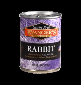 EVANGER'S EVANGERS GRAIN FREE RABBIT 13OZ CASE OF 12