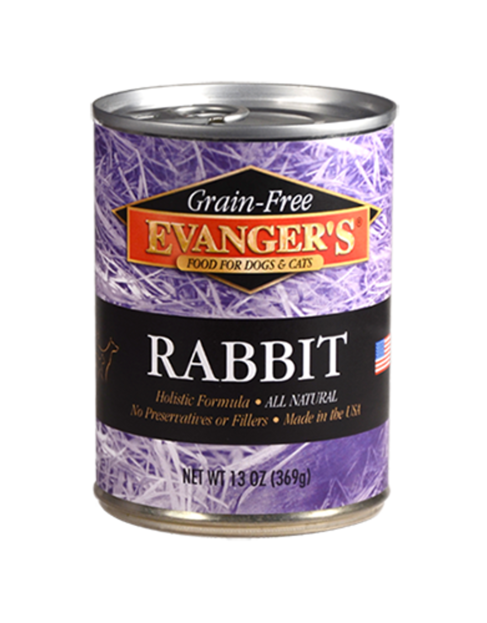 EVANGER'S EVANGERS GRAIN FREE RABBIT 13OZ CAN