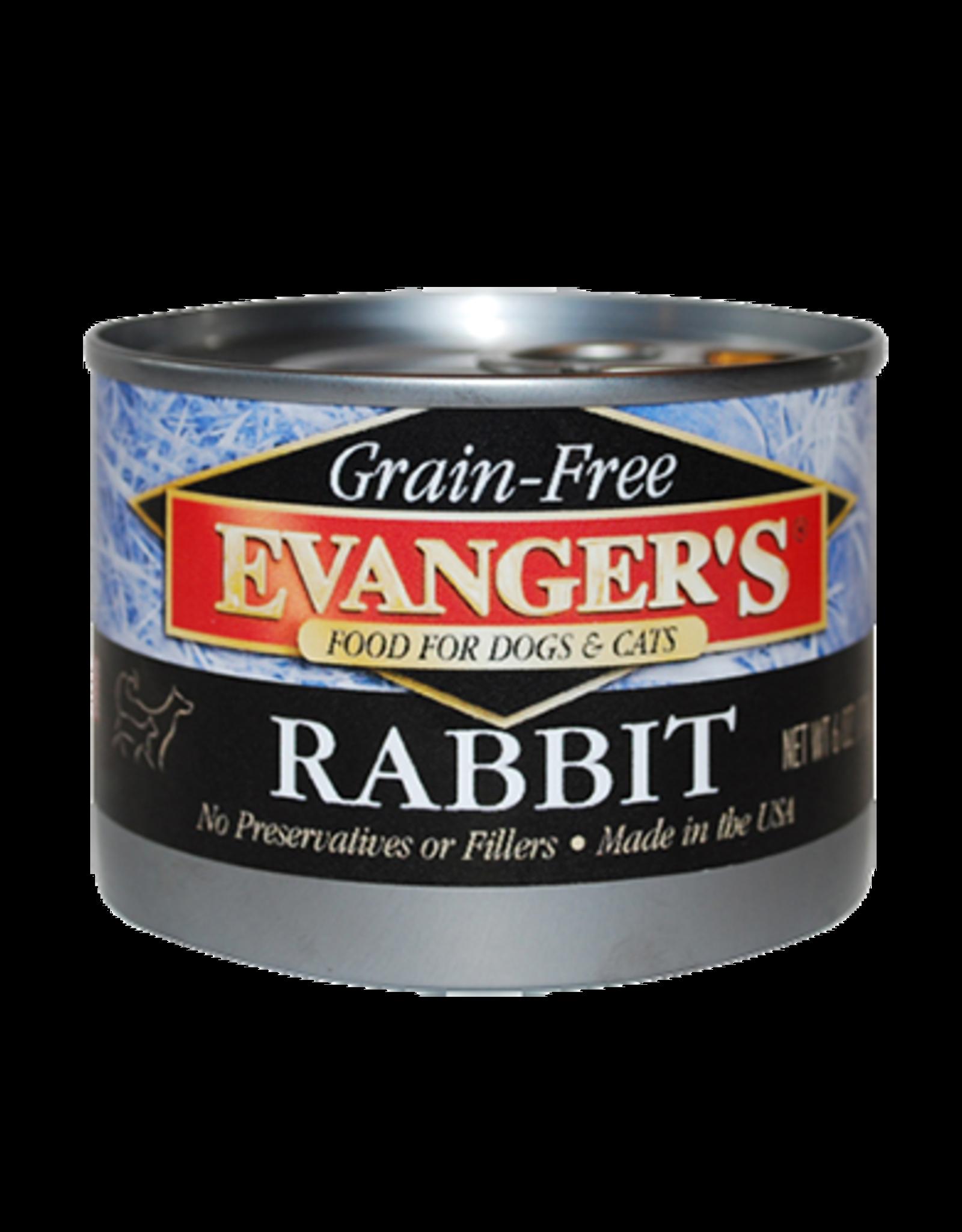 EVANGER'S EVANGERS GRAIN FREE RABBIT 6OZ CASE OF 24