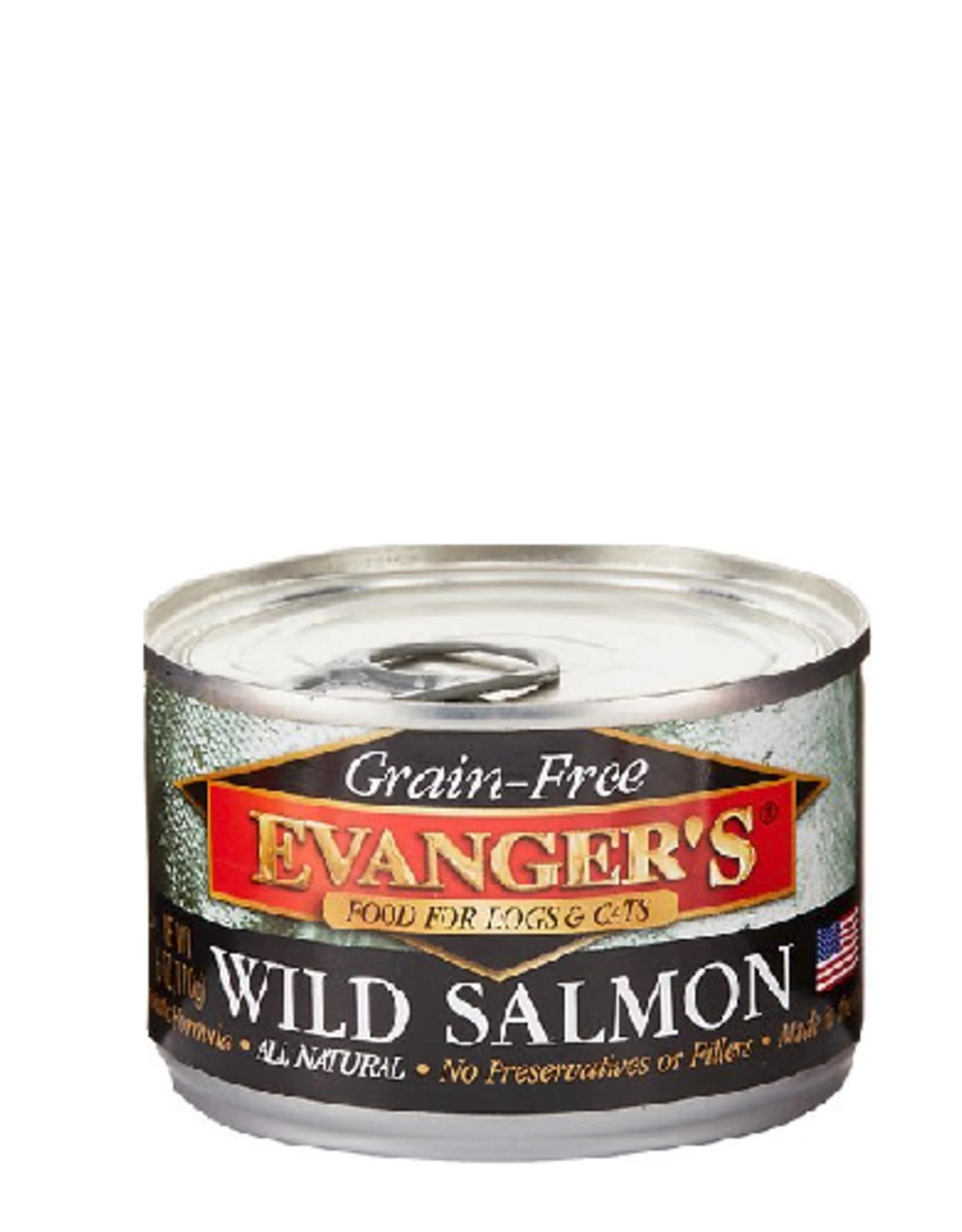 EVANGER'S EVANGERS GRAIN FREE WILD SALMON 6OZ CAN