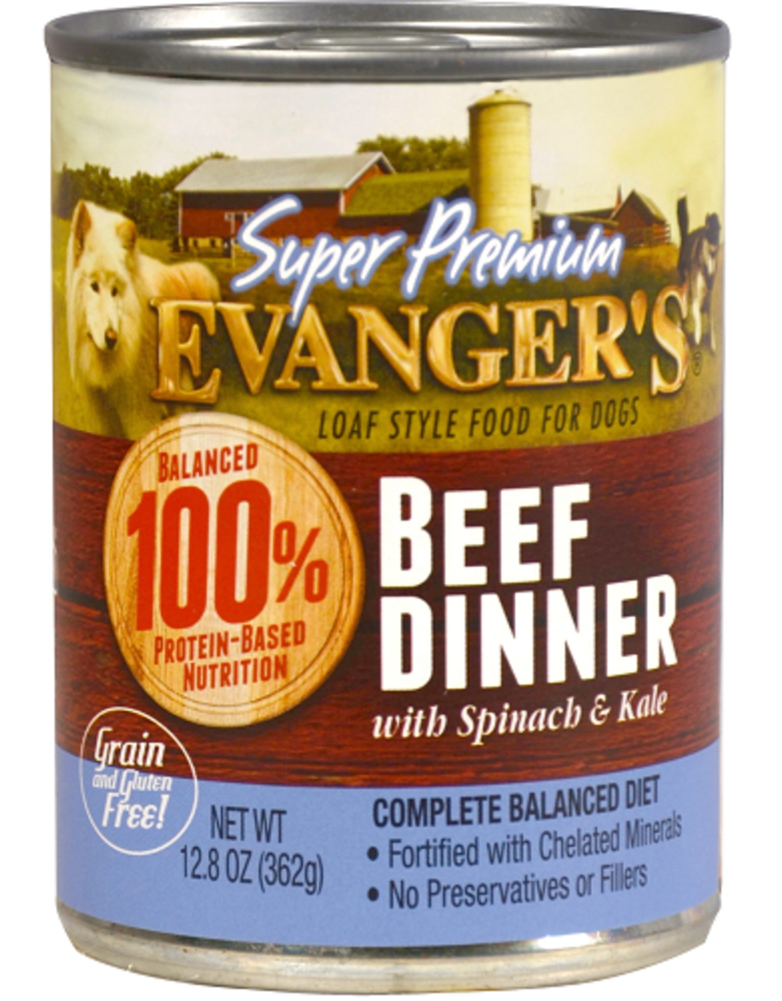EVANGER'S EVANGERS SP BEEF DINNER W/ CHUNKS 13OZ CASE OF 12