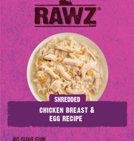 RAWZ RAWZ CAT SHREDDED CHICKEN & EGG 2.46OZ CASE OF 8