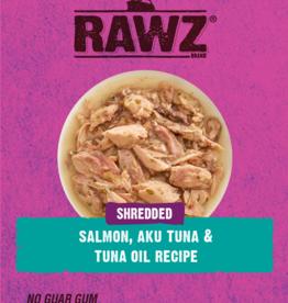 RAWZ RAWZ CAT SHREDDED SALMON,AKU TUNA & TUNA OIL 2.46OZ