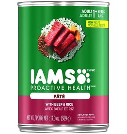 IAMS COMPANY IAMS DOG CAN BEEF & RICE PATE 13.2OZ