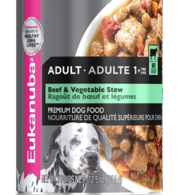 EUKANUBA EUKANUBA DOG CAN BEEF & VEGETABLE STEW 12.3OZ CASE OF 12